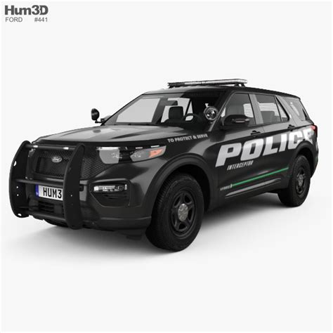 2020 Ford Utility by Ford Explorer Interceptor Utility 2020 3d Model