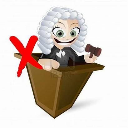 Cartoon Judge Funny Wig Juiz Peruca Richter