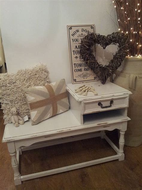 shabby chic phone table 25 shabby chic hallway and entryway d 233 cor ideas shelterness