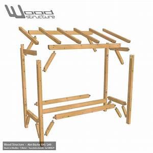Abris Buches Bois : abri b che bois 240 x 100 charpente bois wood structure ~ Melissatoandfro.com Idées de Décoration