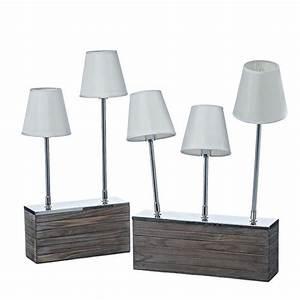 Tischleuchte Silber Modern : tischleuchte woody modern ausgefallen holz lampe originell licht design exclusiv ebay ~ Indierocktalk.com Haus und Dekorationen