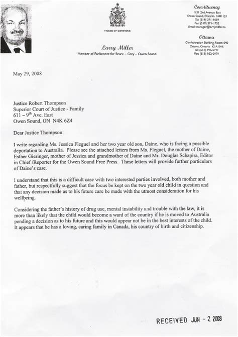 s thompson writes a blistering the top letter to larry miller mp lobby letter to judge superior court 22560