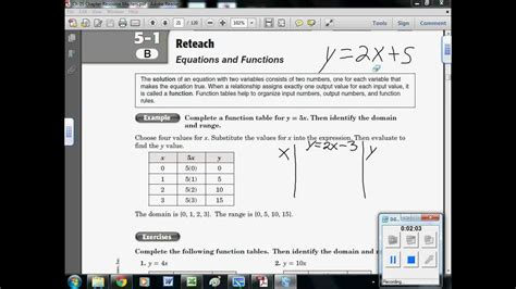 5-1 B Equations & Functions (linear)- How To Use Input