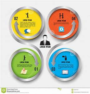 Circle Rotation With Icons Template Stock Vector