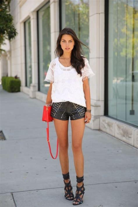 Cool Ways to Wear Leather Shorts u2013 Glam Radar