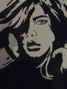 Pop Girl Art Stencil