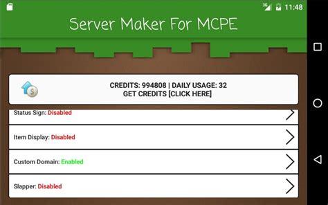 server maker  minecraft pe apk