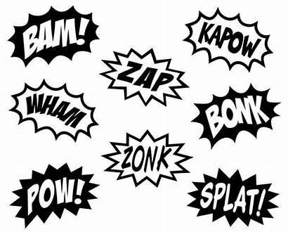 Superhero Words Comic Vinyl Cartoon Lettering Decal
