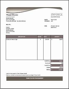 Tuition receipt template etamemibawaco for Music tuition invoice template