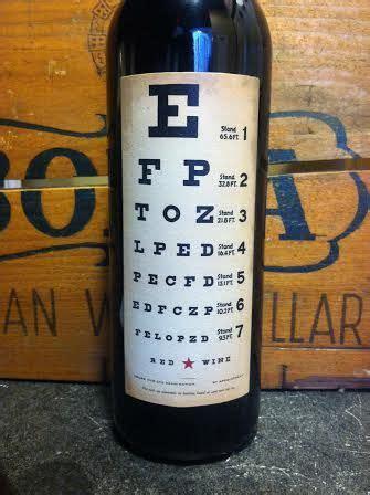 Joel Gott Eye Chart Wine