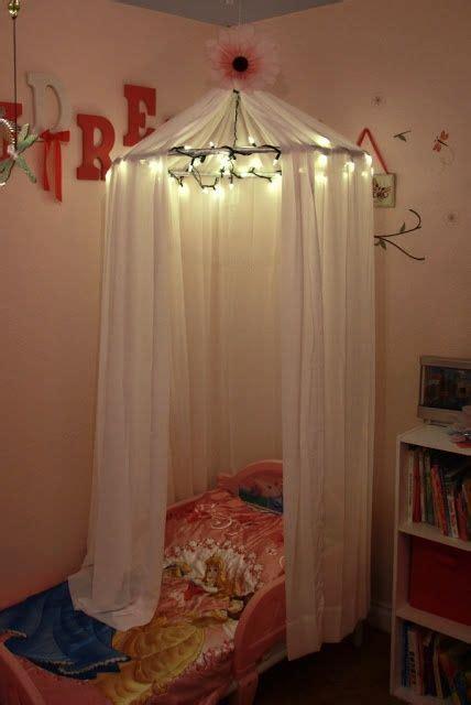 sew diy  girls bed canopy  lights