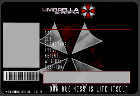 umbrella id card template    joker  deviantart