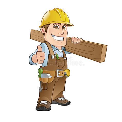 carpenter stock vector illustration  drawing builder