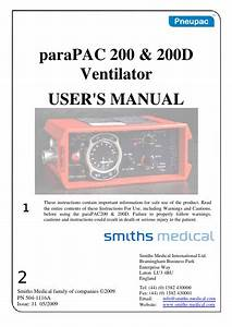 Pneupac Parapac 200  U0026 200d Users Manual Issue 11 May 2009