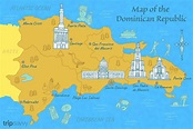 Map of the Dominican Republic in the Caribbean