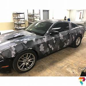 Ford Mustang wrapped in camo wrap with custom printed 3M 480mC vinyl - Vinyl Wrap - 3M & Avery ...