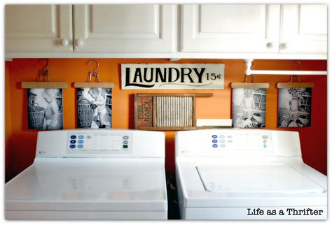 life   thrifter diy laundry room display