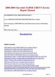 2001 Chevy Tahoe Repair Manual Pdf