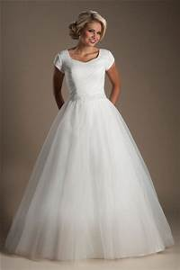 simple ball gown cap sleeve tulle ruched modest wedding With simple modest wedding dresses
