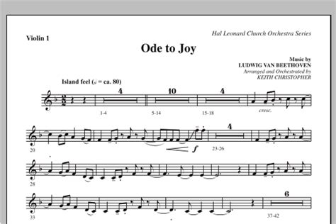 ode to joy does not match satb 08752035 violin 1
