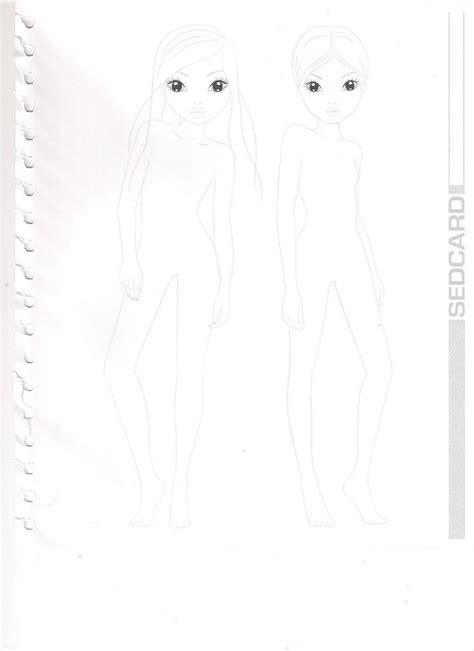 Top Model Design Free Colouring Pages
