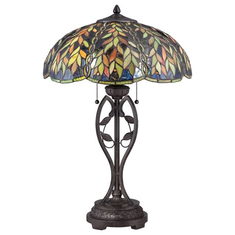 tiffany glass l shades tiffany table l bronze base and falling leaves on art