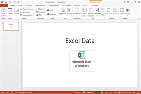 embed  excel workbook icon  powerpoint