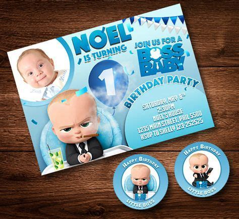 boss baby invitation card  cake toppers party card
