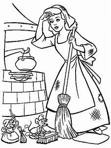 Cinderella Coloring Pages Coloringpages1001