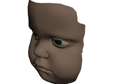 face baby  model  cad browser