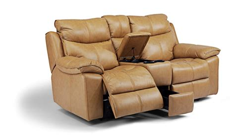 power reclining loveseat with console julio collection by