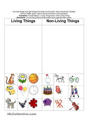 living and nonliving things worksheets 7 best images of free printables living things living and non living things activities living