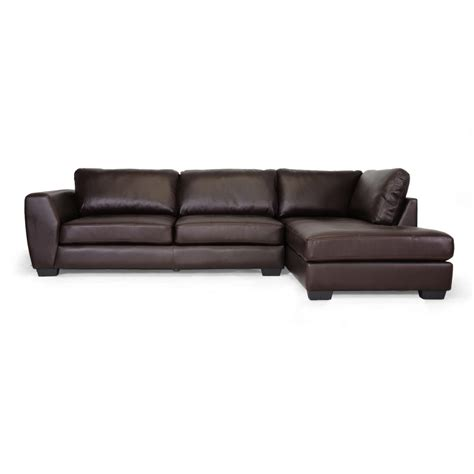 image chaise orland brown leather modern sectional sofa set with right