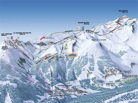 chalet des domaines de la vanoise chagny en vanoise piste map plan of ski slopes and lifts onthesnow