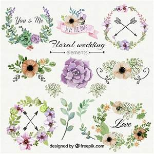 floral wedding ornaments vector free download With wedding invitation flower ornaments
