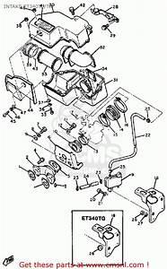 Yamaha Et340 Tf Enticer 1982  1983 Intake Et340tf  Tg