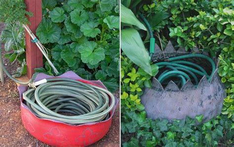 creative garden hose storage ideas