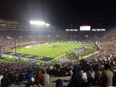 rose bowl section   row  seat  ucla bruins