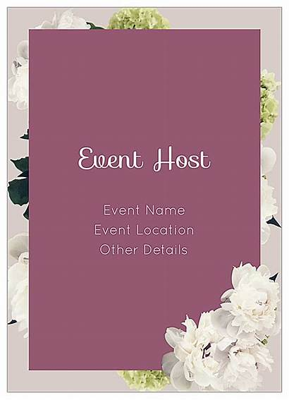Templates Invitation Flowers Card Cards Easy Event