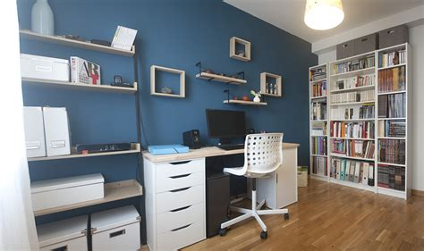 bureau couleur bleu paon deco  des couleurs