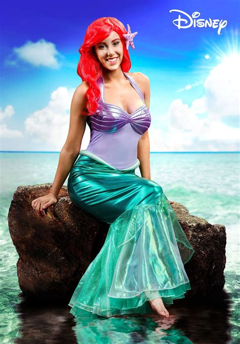 mermaid ariel deluxe costume  women