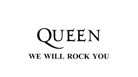 Queen  We Will Rock You  Remastered [hd]  With Lyrics Youtube