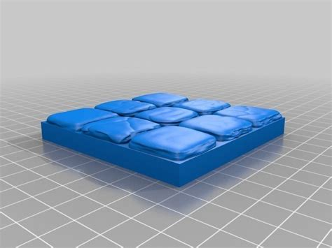 openforge stone dungeon tiles free 3d model 3d printable