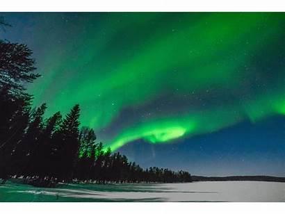 Lights Northern Night Finland Below Whole Lapland