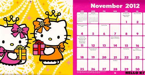 Hello Kitty November 2012 Calendar