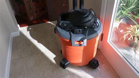 shop vac for leaves pros and cons ridgid 5 0 hp 16 gallon vac and 5196