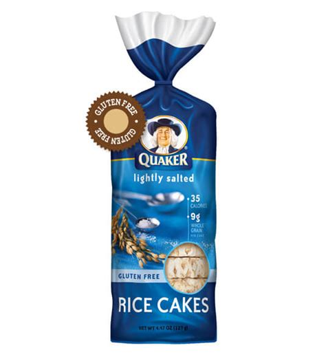 quaker rice cakes lightly salted eat gluten