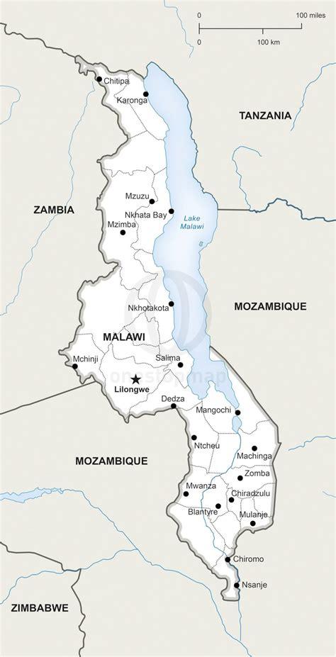 malawi fluss karte