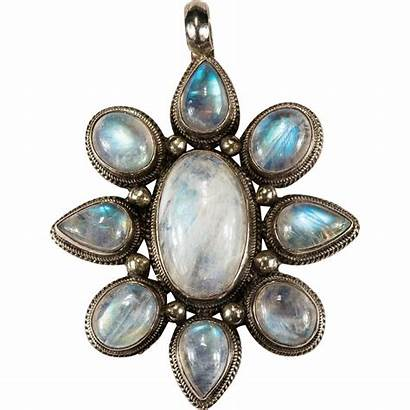 Moonstone Natural Pendant Silver Sterling Stone