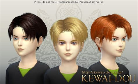 sims  hairs kewai dou levi hairstyle  boys